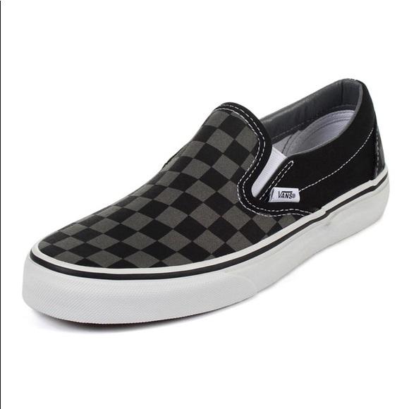 64b8591deb4f5 Vans Shoes | Unisex Classic Slipon In Blackpewter | Poshmark